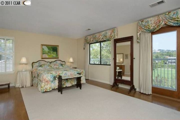 Huge master suite in a family home