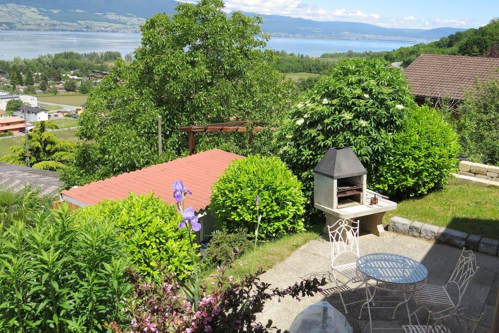 Terrasse privative avec vue sur le lac