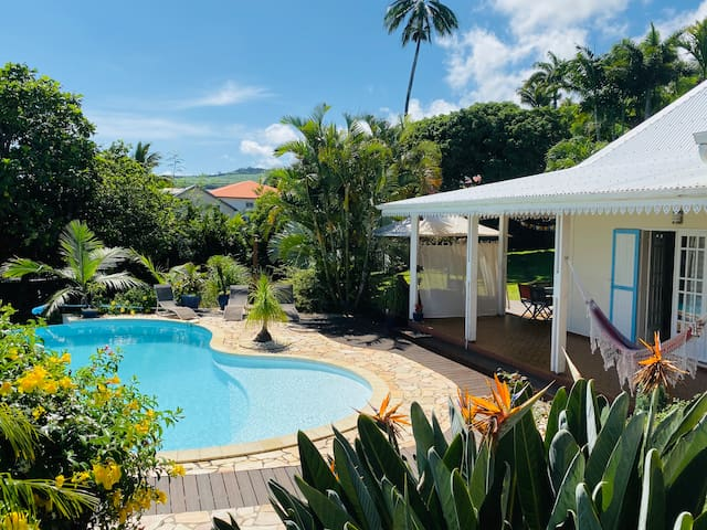 Villa Ti Sable, pool and ocean view, Manapany