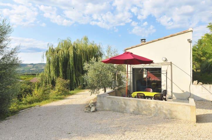 Studio Calme Avec Piscine - Villedieu - Wohnung
