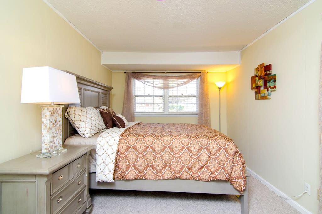 Both large bedrooms offer comfortable queen-size beds