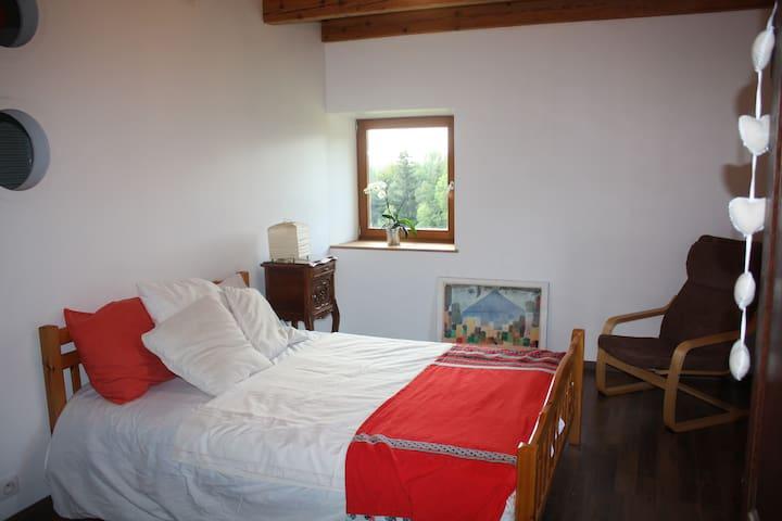 chambre dans ferme en pleine nature