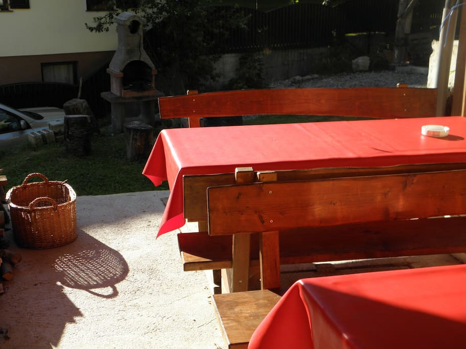 BBQ and table