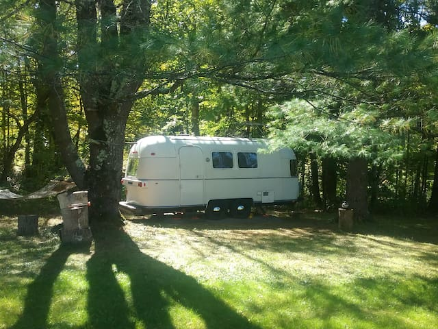 Ashokan Airstream by the Stream