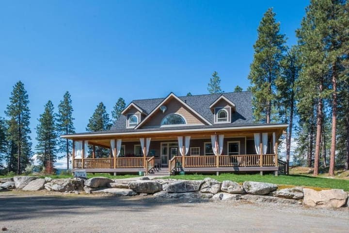 King Master w/Jacuzzi on 20 acre 3 blocks off 95 - Bonners Ferry - Hus
