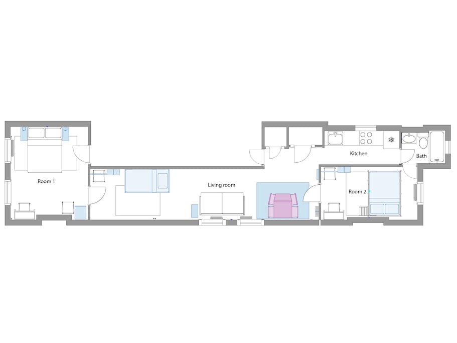 Check out the floor plan of our apartment!
