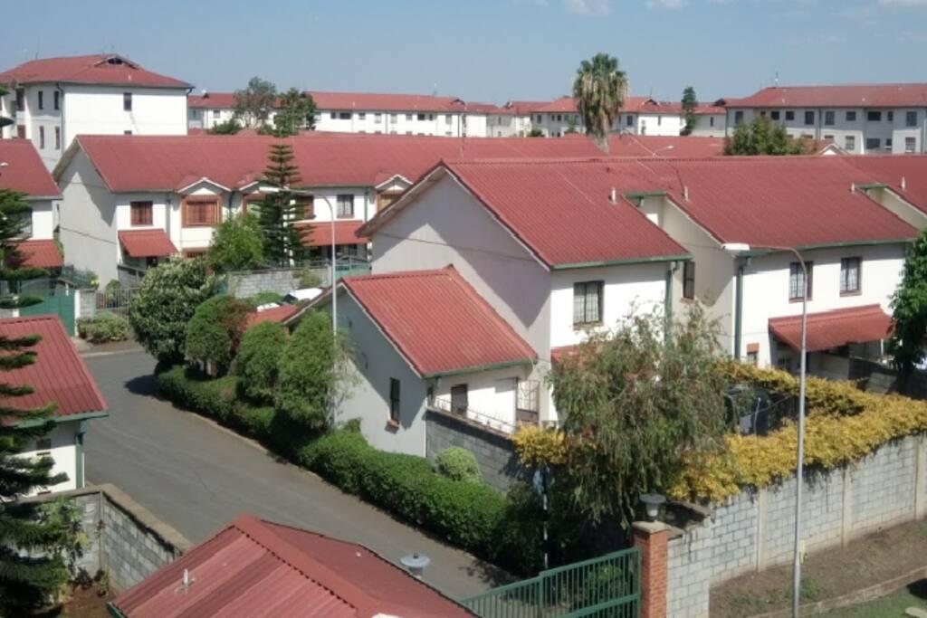 Clean gated community estate