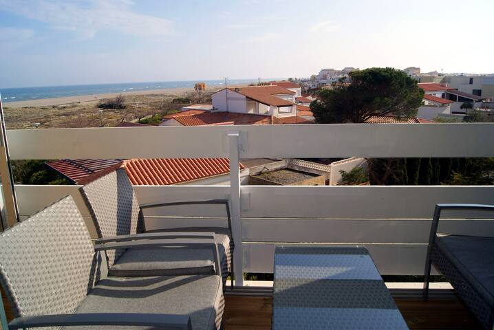 beautiful flat on the beach with WIFI! - Leucate - Apartment