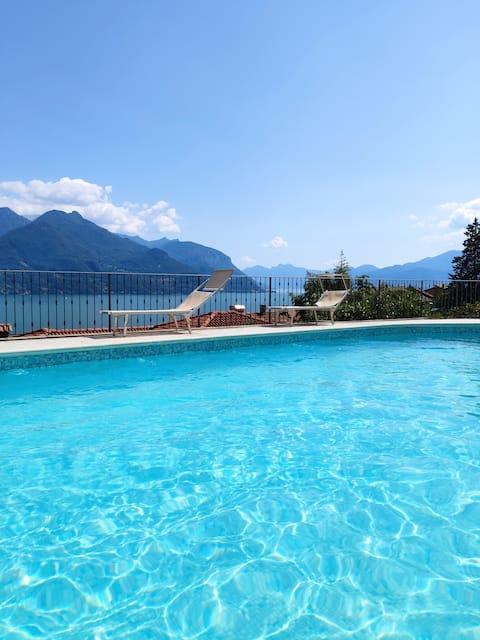 La Casa di Sergio- lake view,pool and wifi-