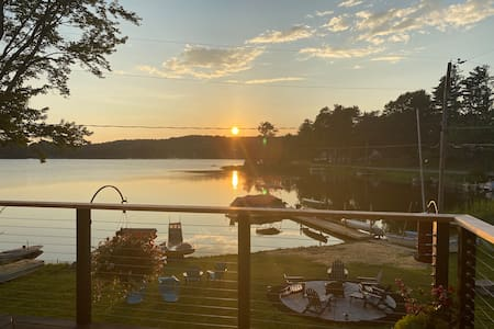 A Sunset Cove On Galway Lake, Saratoga County, NY