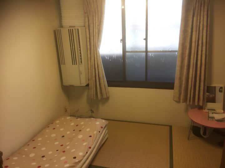 女性用1人部屋。観光便利な東福寺駅前。格安な個室 ゲストハウス うさぎもみじ(For ladies)