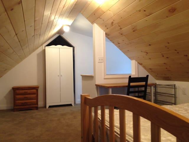 Newly renovated attic bedroom