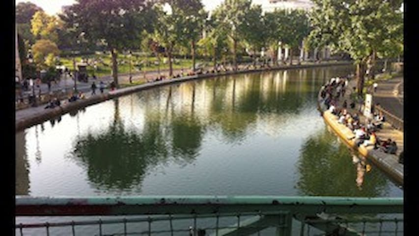 Nice Studio Canal Saint-Martin