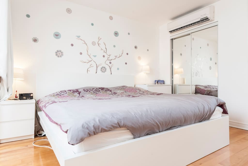 King Bed Room on the floor