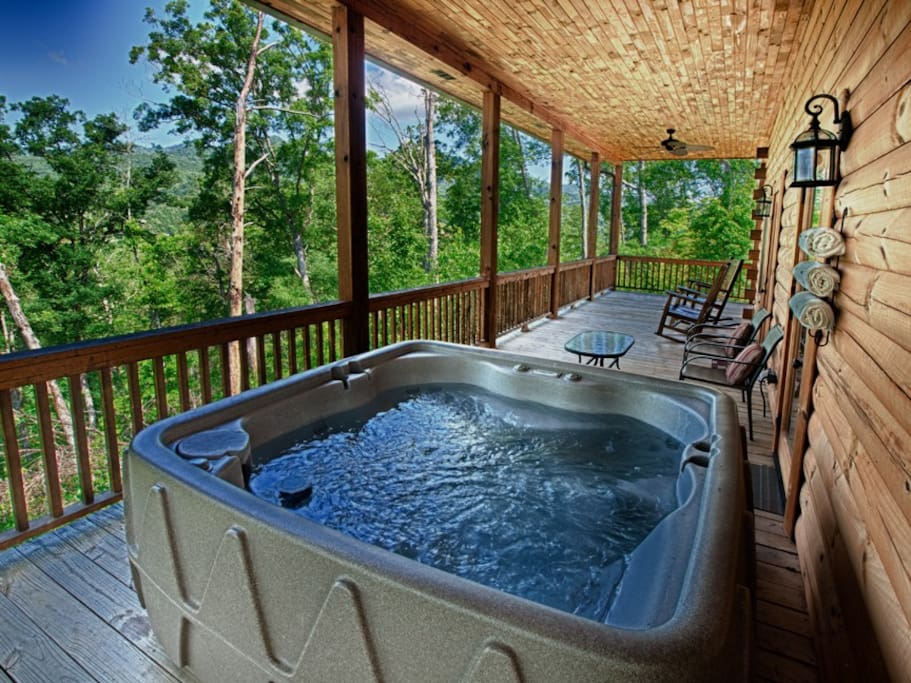 Enjoy the views from the Hot Tub