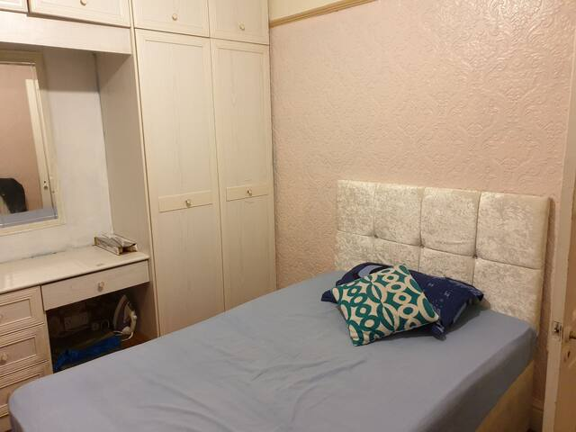 Small Double bed in a 3 bedroom house.