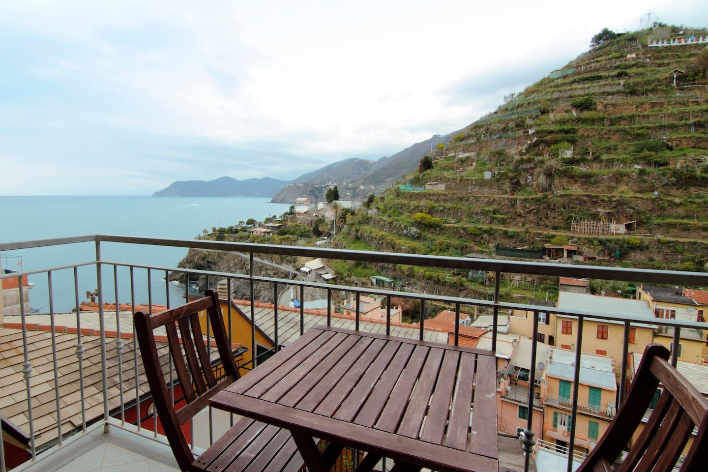 Balcony with wonderful sea view