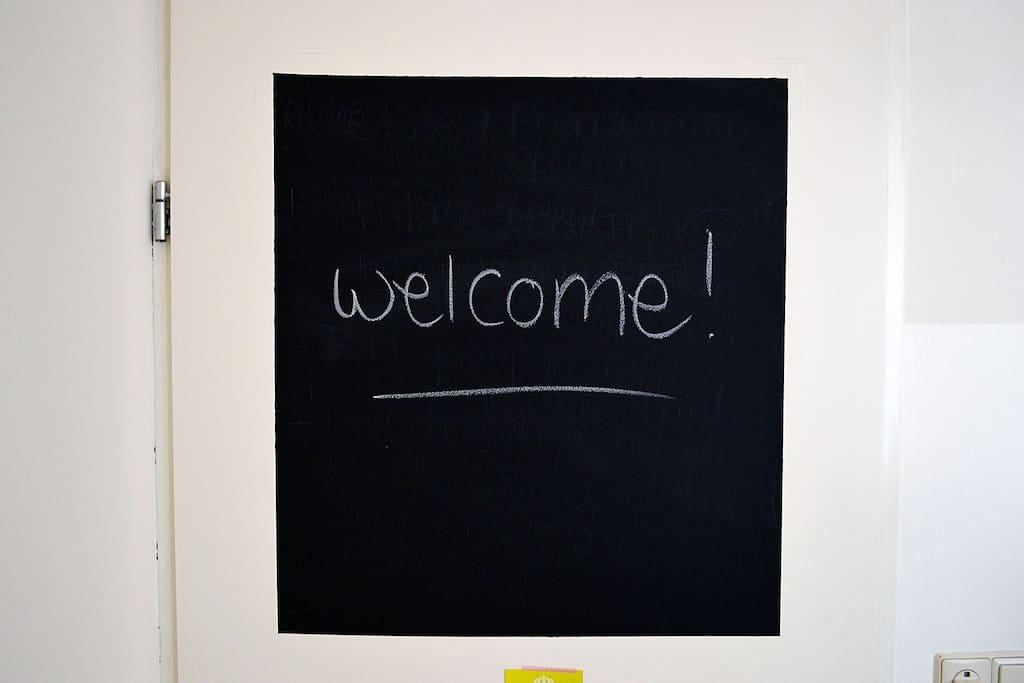 A welcome note is always nice
