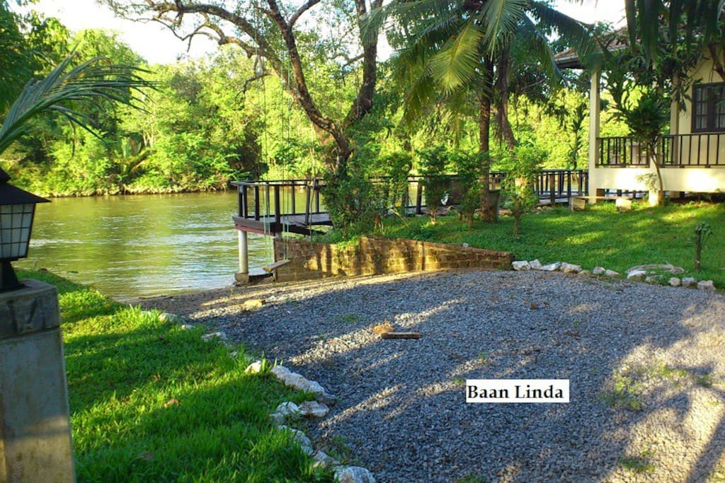 The Boatramp and our cornection with the river.