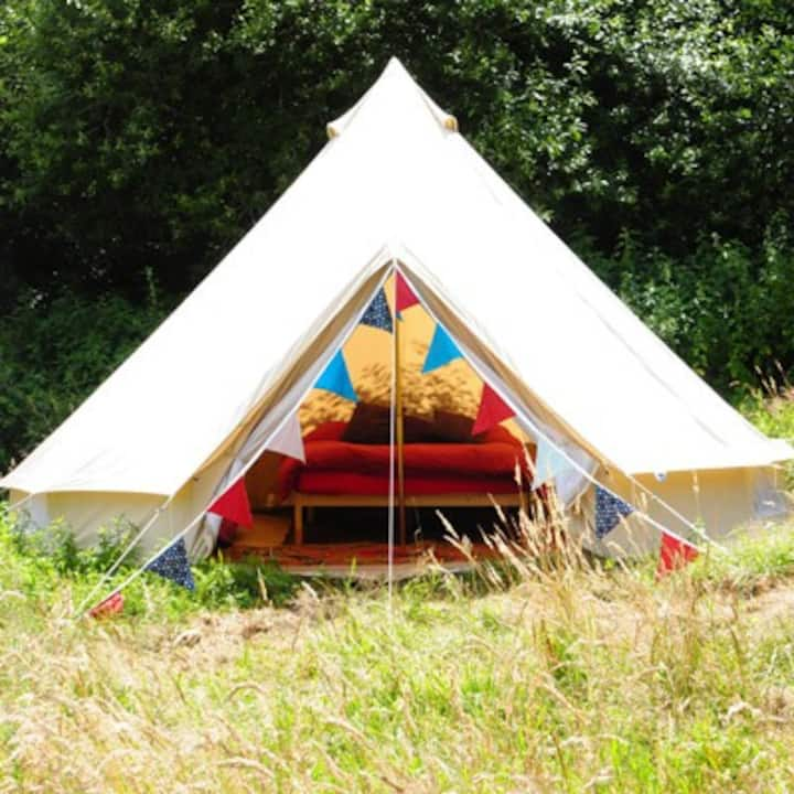Furnished Bell Tent, Lovely Farm