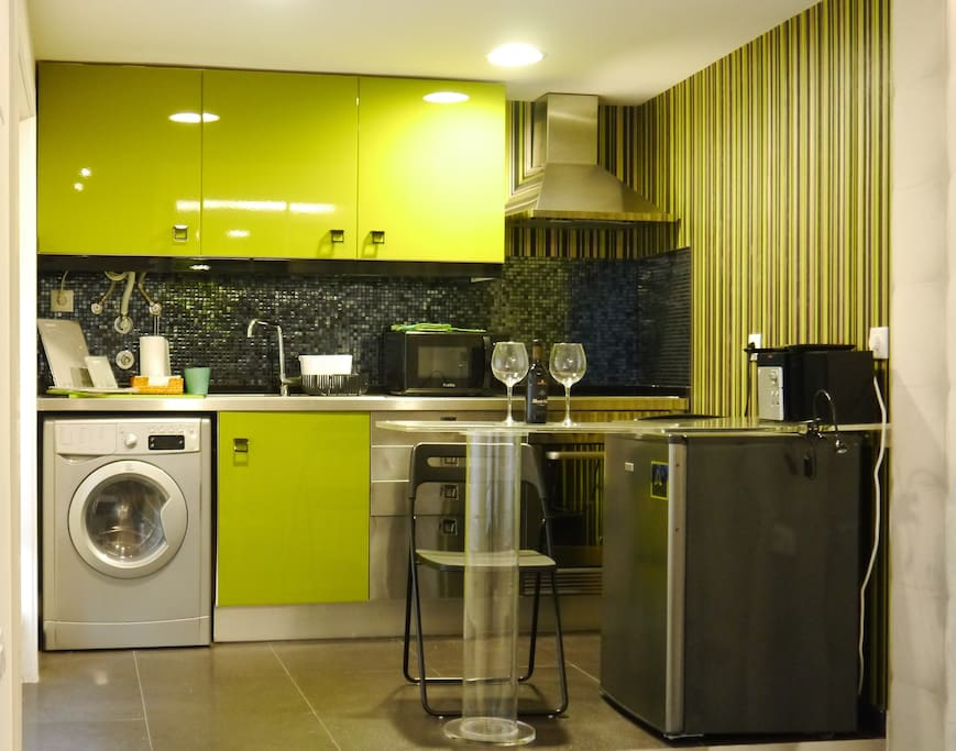 This is the kitchenette.