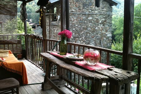 Romantic house in stone village - House