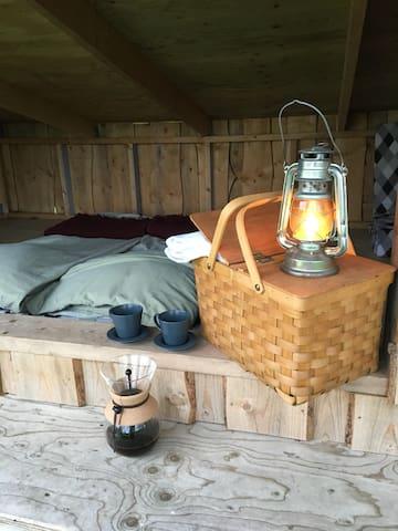 Shelter, bål, udsigt og hygge-garanti :-)