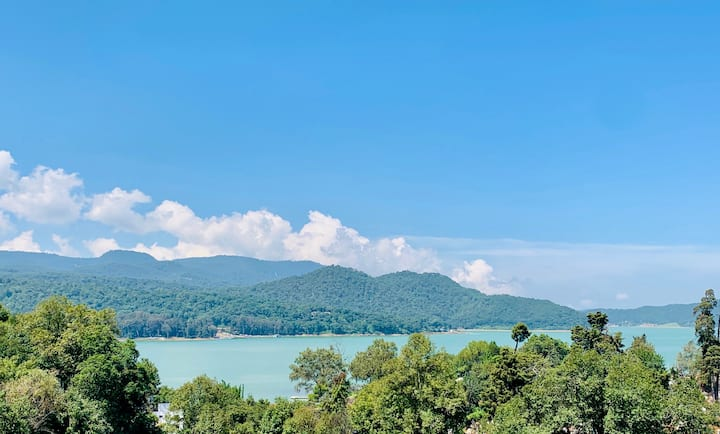 Enamórate: alberca+chimenea+terraza+vista al lago