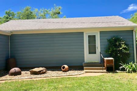 The Blue House Back Backyard Cottage