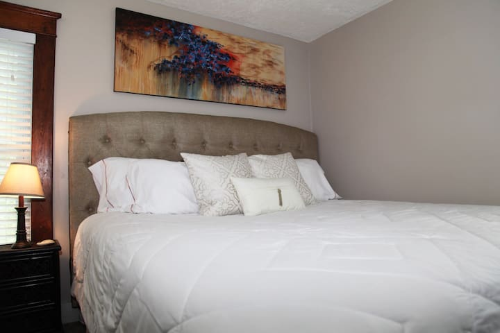 Fabulous King-Size Bed . . . your own piece of heaven!