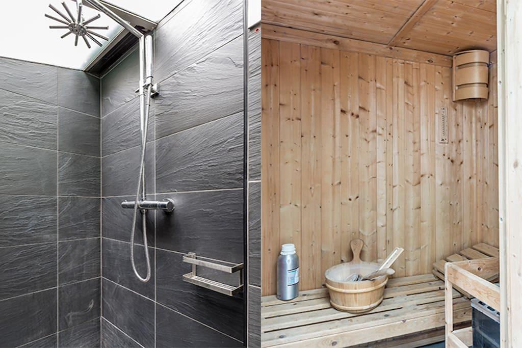 Sauna + Shower