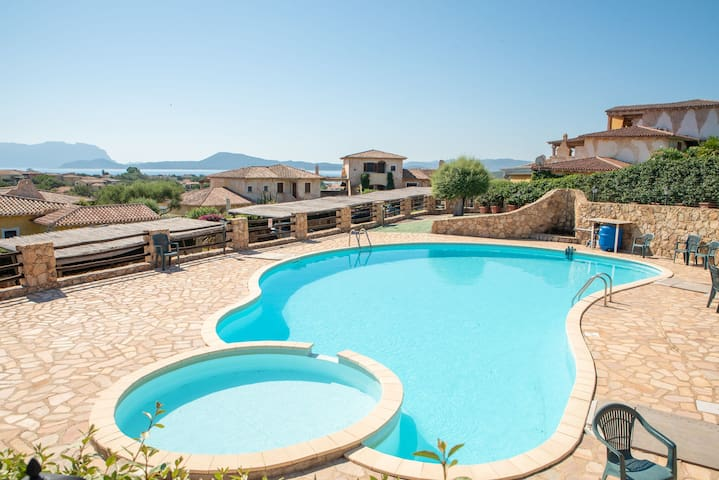 Holiday home with pool, whirlpool, garden and terrace; garage available; pets allowed