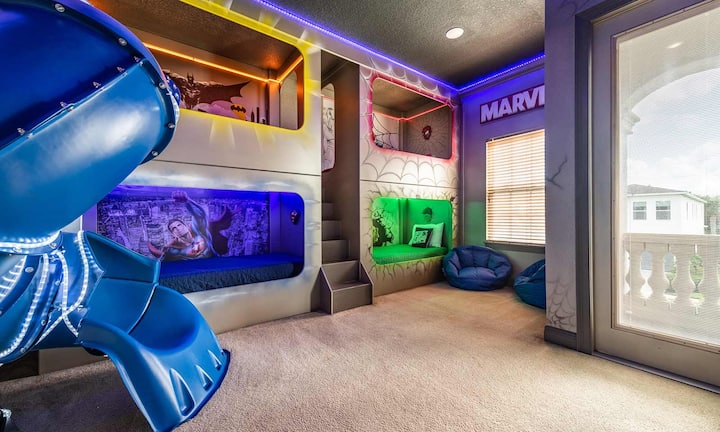 Captivating 5 Bdrm Home with Superhero Themed Bedroom at Reunion