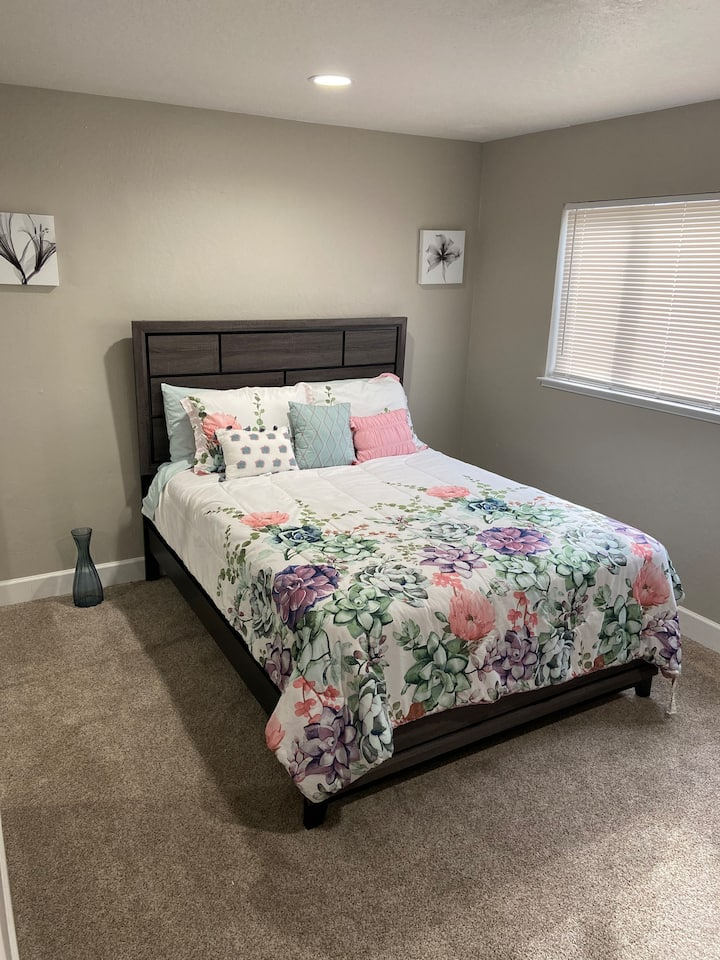 Beautiful guest bedroom in newly remodeled home!