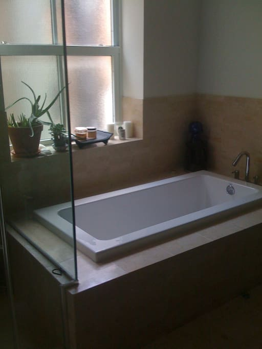 Ah, the soaking tub... a little spa in the home.