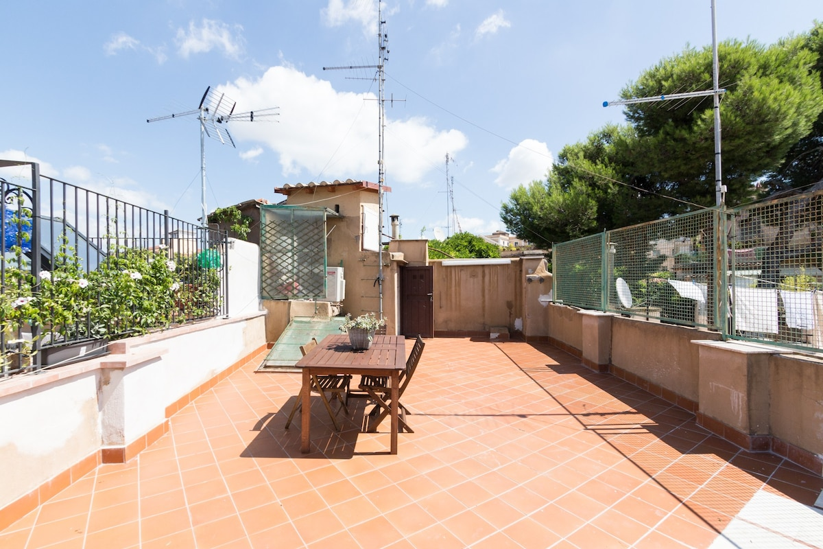 Amazing roof terrace Colosseum - Apartments for Rent in Rome ...