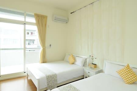 雙人房有二張雙人床,睡得舒服