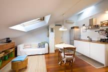 Cocina completa en espacio abierto  Open space kitchen