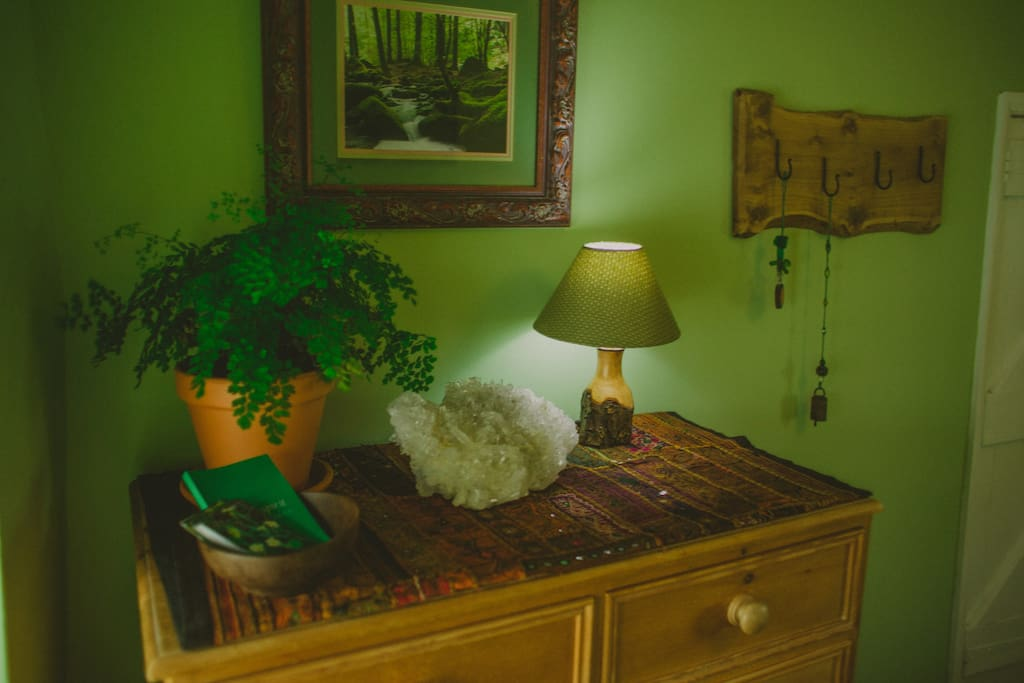 The Forest Room ~ All furnished in reclaimed & local wood, walls painted with organic natural eco paint