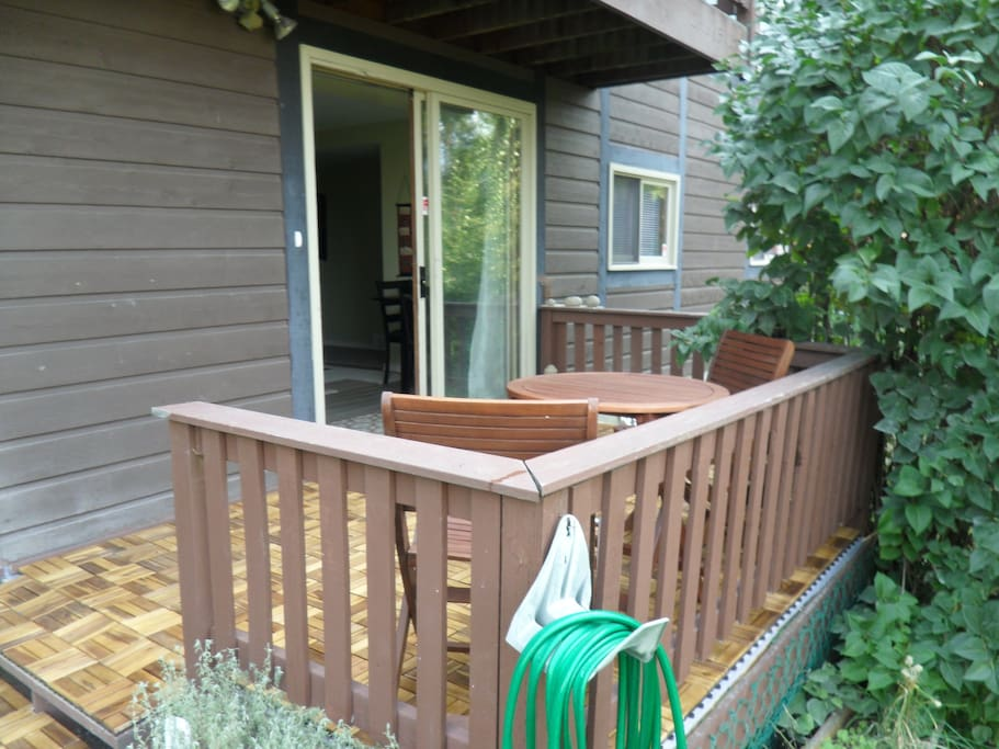 Your private entrance is by the deck (BBQ is not shown here)