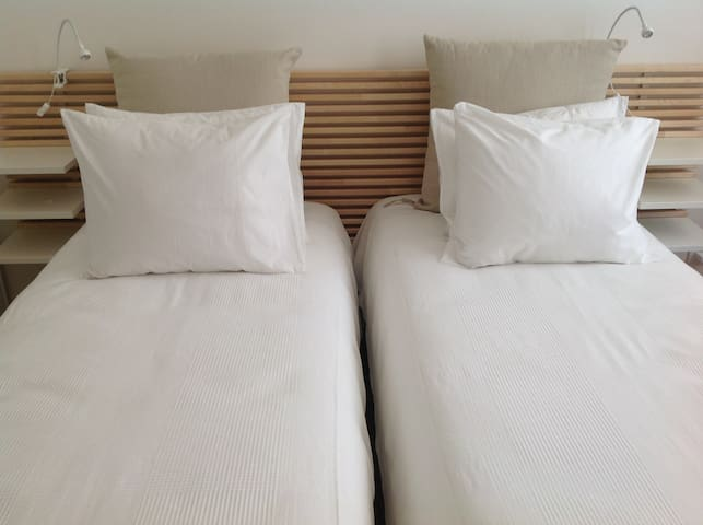 Two single beds if you prefer than the king size bed