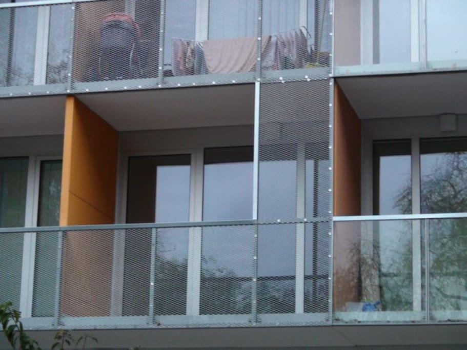 Pohled na verandu - orientace na JV