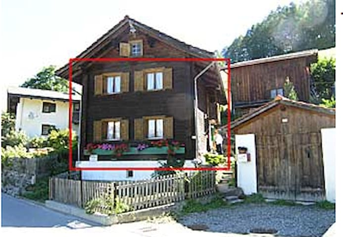 300 year old wooden Swiss farmer house