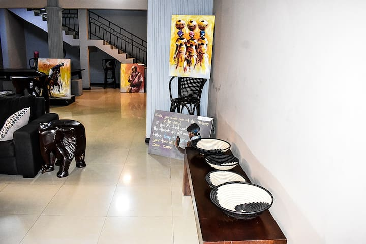 Supporting Authentic African Artists for your viewing pleasure and to add to the unique ambiance of The DANN Residence