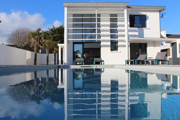 Villa Alba Quiberon - lits préparés - piscine