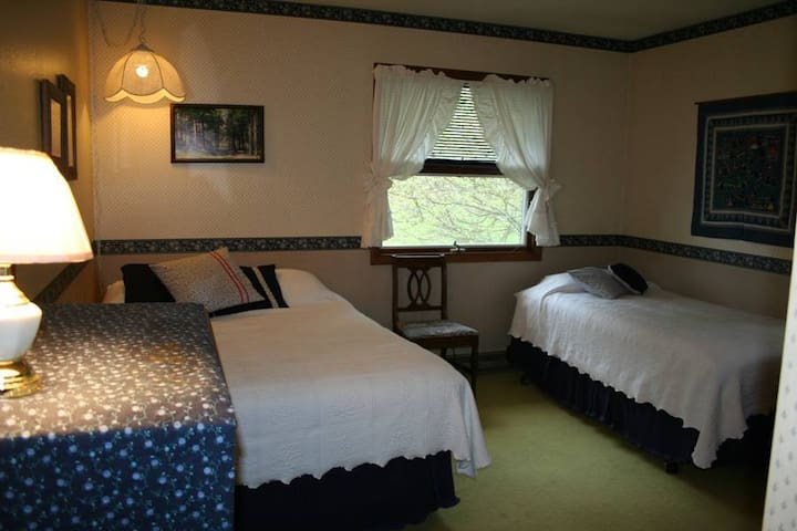 The Blue Heron Room - one queen and one twin bed