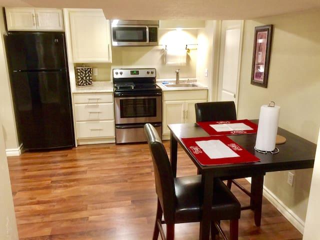 Private basement w/ kitchen, perfect location! :)