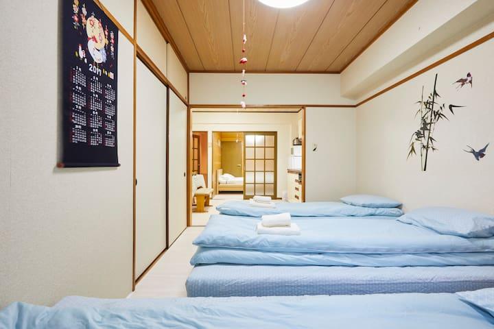 上野浅草へアクセス便利、2駅4線路利用、成田空港乗換無、空港有料送迎可 - 荒川区 - Apartamento