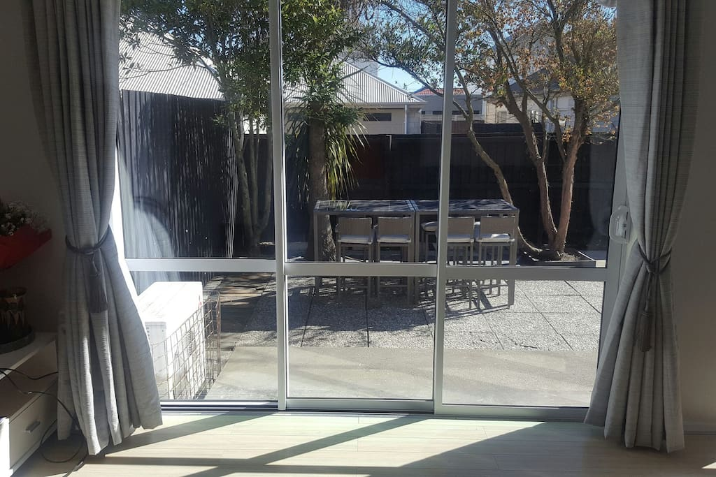 Sliding door from Loungeroom to  sunny Northern facing Courtyard