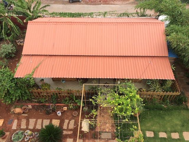Wood House with a beautiful Garden. - Hyderabad - Talo
